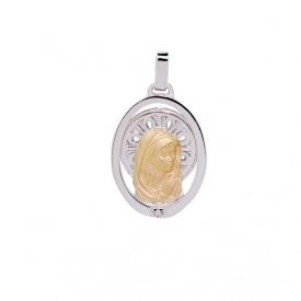 Medalla plata y oro Virgen Niña  M-301-3