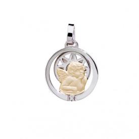 Medalla plata y oro Angel de la Guarda   m09216698n