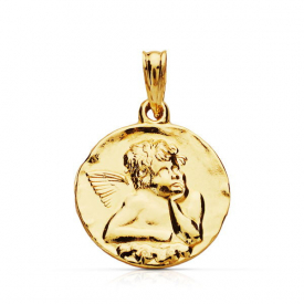 Medalla oro 18 kt Angel de la Guarda m26000244
