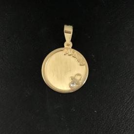 Medalla bebé  en oro 18 kt ME00585