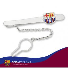 sujetacorbatas  plata futbol club barcelona