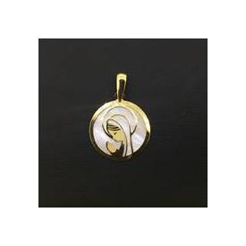 Medalla en oro 18 kt de la Virgen Niña ME00066