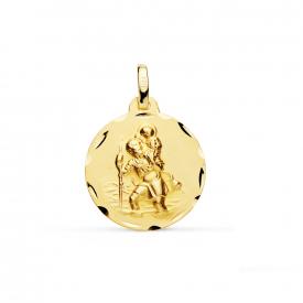 Medalla en oro 18 kt San Cristobal M26000164