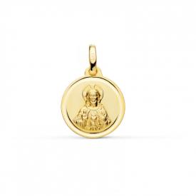 Medalla Sagrado Corazón  en oro 18 kt c-26000689