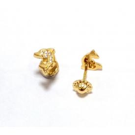 Baby earring in gold 18 kt
