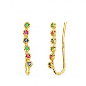 Crawlers earrings in gold 18 kt