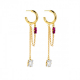 Long earrings Victoria Cruz A3669-21DT