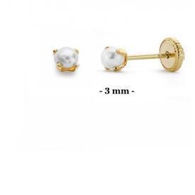 Pendientes bebé oro 18 kt a-15011