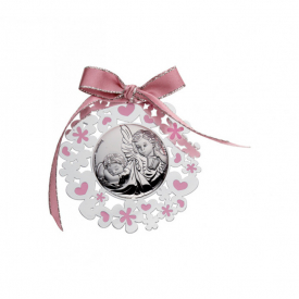 Baby crib medal in pink