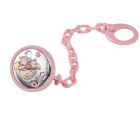 Pacifier clip in pink