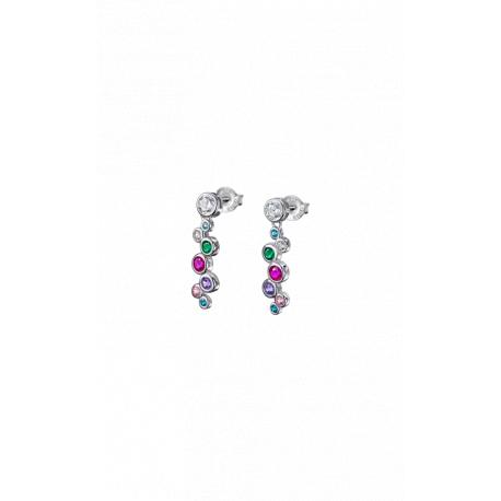 Lotus silver long  earrings lp1979-4/2