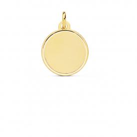 Medalla lisa  de 14 mm oro 18 kt