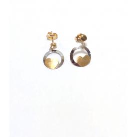 Long earrings gold 18 kt A-drm-213