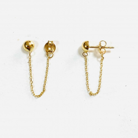 Long earrings gold 18 kt pe03396