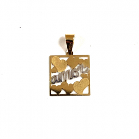 Pendant in gold 18 kt C-5380n colgante enamorados