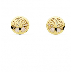 gold 18 kt earrings life's tree
